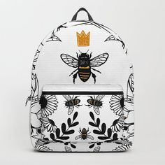 Womens Fashion Accessories I just love this Queen Bee backpack Buzzy Bee, I Love Bees, Bee Jewelry, Bee Art, Bee Theme, Save The Bees, Bee Happy, Bees Knees, Queen Bees