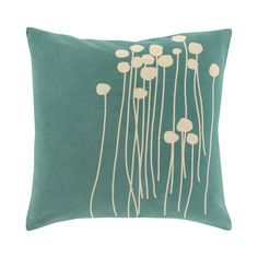 If a charming and cozy throw pillow is what you seek, this darling design will prove a perfect fit. This Wishing Flowers Throw Pillow features a vibrant 100-percent cotton cover that is decorated with ...  Find the Wishing Flowers Throw Pillow, as seen in the Throw Pillows Collection at http://dotandbo.com/category/decor-and-pillows/pillows/throw-pillows?utm_source=pinterest&utm_medium=organic&db_sku=111887