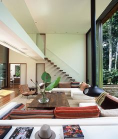 Architect Arthur Casas designed this house in the Brazilian rainforest with seamless indoor-outdoor flow.