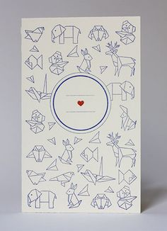 Origami card.