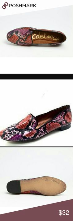 NWOT Sam edelman Alvin flat Details & Care Clean lines highlight the exotic texture of a slipper-style flat. Leather, snakeskin or genuine calf hair  upper/leather lining and sole. Sam Edelman Shoes Flats & Loafers