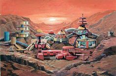 Mysteron city on Mars