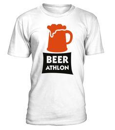 BEER ATHLON - The Beer Marathon  Funny Oktoberfest T-shirt, Best Oktoberfest T-shirt