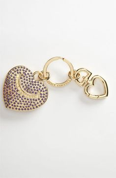 Juicy Couture Pavé Heart Key Ring available at #Nordstrom #glitterinjuicy #givemewhatiwant