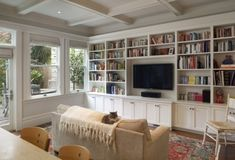 Wall of cabinets for the Family Room - traditional - family room - san francisco - Gast Architects