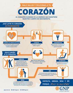 """Infografía  """"Dale salud y felicidad a tu corazón."""""""