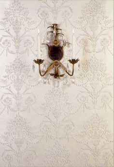 Stencils can accentuate any home decor style - use different color palettes to create a custom look! See how this Vase & Pearls Wall Stencil can add a beaut