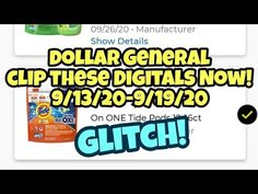 Christa Coupons - YouTube Dollar General Store, Tide Pods, Coupons, Digital, Youtube, Coupon, Youtubers, Youtube Movies