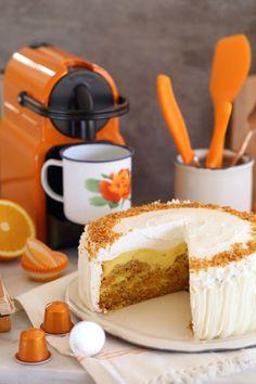 pastel de queso de la zanahoria