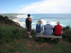 View towards the famous Johanna Beach on the Greeat Ocean Walk