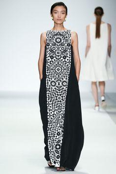 Long dress, center panel