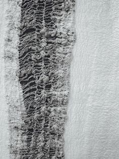 Contemporary Textiles Design - monochrome felted fibres; texture; nunofelting // Claudy Jongstra