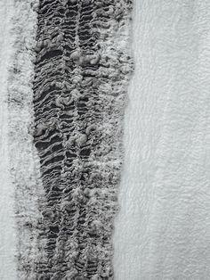 Contemporary Textiles Design - monochrome felted fibres; texture; nunofelting // Claudy Jongstra