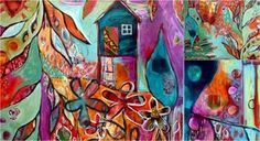 intuitive painting by Tracy Berdugo