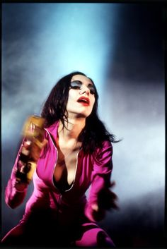From Bridport bar gigs to glam rock riots and box-based sound sculptures: PJ Harvey - in pictures. Harvey in the guise of the hyper-feminine caricature Polly, at the Academy, New York on 7 June 1995 Photograph: David Corio/Redferns Music Film, Music Icon, Diamanda Galas, Harvey Girls, Sound Sculpture, Riot Grrrl, London Today, Girls Rules, Iconic Women