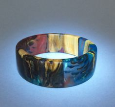 Bracelet. Wood Resin Pine Cones. Unique Handmade Jewelry by 50Kats