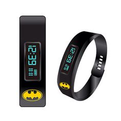 Batman Fitness Tracker LED Watch Batman stays in shape by fighting crime and working out in the batcave, but we don't all have that ability, so some of us need a little help.