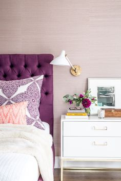 Bedroom : Best Ideas Of Purple Bedroom Decor Purple Bedroom Design' 2017 Purple Bedroom Ideas' Small Bedroom Arrangement or Bedrooms Bedroom Apartment, Home Bedroom, Bedroom Furniture, Bedroom Decor, Bedroom Ideas, Purple Furniture, Bedroom Headboards, Bedroom Inspiration, Wooden Bedroom