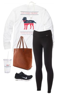Goig to get my nails done by ava-lindsey on Polyvore featuring Southern Proper, NIKE, Madewell, Kendra Scott and Vineyard Vines