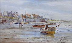Buy John Davison Liddell Cullercoates and other Victorian paintings and watercolours at James Alder Fine Art John Davison, North Shields, Victorian Paintings, Landscaping Company, Newcastle, Green Bay, Eagles, Holiday Fun, Landscape Design