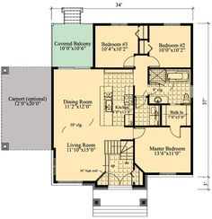 One Level Contemporary Home Plan - 90236PD | 1st Floor Master Suite, CAD Available, Canadian, Contemporary, Metric, Narrow Lot, Northwest, PDF | Architectural Designs