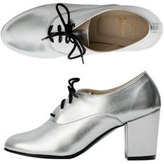 Metallic High Heel Bobby Leather Lace-Up Shoe | American Apparel