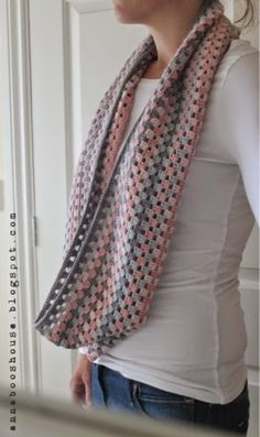 Annaboo's house: Granny stripe cowl pattern