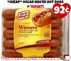 *CHEAP* Oscar Mayer Hot Dogs @ Target! Print this new $0.75/2 Oscar Mayer Hot Dogs coupon and stack it at Target to pay just $0.92! Click the link below to get all of the details ► http://www.thecouponingcouple.com/cheap-oscar-mayer-hot-dogs-just-0-92-target/ #Coupons #Couponing #CouponCommunity Visit us at http://www.thecouponingcouple.com for more great posts!