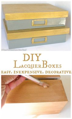 How to make Lacquer designer decorative boxes on a budget. Under $10