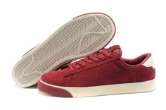 Nike Blazer Low Classic Ac ND Suede Mens Shoes Deep Red UK Cost For Sale