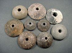 9 Ancient Spindle Whorls Steatite Grk Roman 200BC 100AD