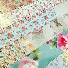 Decoupage floor Before the sanding and varnish stage
