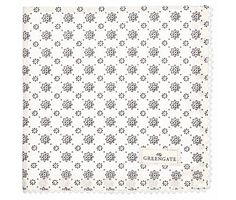 """GreenGate Stoffserviette """" Napkin with lace Laurie"""" white"""