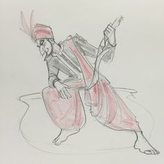 Arabian costume character design and life drawing