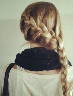 Waterfall Braid - 8 everyday winter hairstyles to rock this season. | The Party DIY