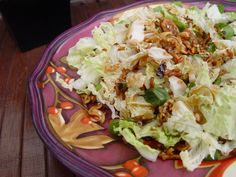 Chinese Cabbage Salad-made this tonight and it was super yummy-better than other salads that I have tried (like this)!  I only made it with one head of cabbage.  I think next time I will add some chicken.
