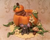 FALL BABY SHOWER Pumpkin Baby Halloween Fondant Fall Baby Shower