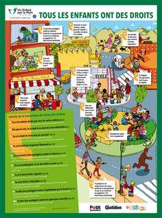 """Un enfant par la main - affiche """"Tous les enfants ont des droits"""" - www.playbac-editions-speciales.fr"""