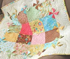 I really should go to the basement and make a baby quilt like this , but i'm lazy so i will pin this and pretend i'm gonna do this later