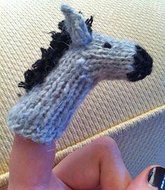 FREE--Donkey/Eore Finger Puppet
