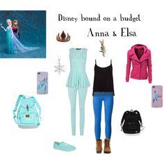 Disney bound on a budget- Anna and Elsa (Twinzie!)