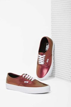 Vans Authentic Sneaker - Metallic Pink | Shop Vans at Nasty Gal