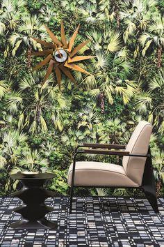 """""""VUE D'EN HAUT"""" Wallpaper by La Maison Pierre Frey"""