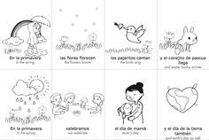 Spring Spanish Vocabulary Cards
