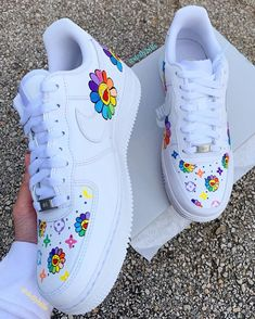 Behind The Scenes By dollybills Custom Painted Shoes, Custom Shoes, Nike Custom, Sneakers Fashion, Fashion Shoes, Nike Sneakers, Fashion Fashion, Runway Fashion, Fashion Trends