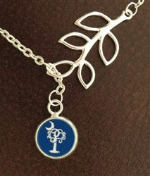 Branch Palmetto Monogram Necklace