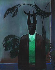 Joanna Karpowicz (Polish, b. Not Today, Acrylic on canvas, 50 x 40 cm. Dark Pictures, Art Series, Anubis, Animal Drawings, Character Art, Character Concept, Creative Art, Art Inspo, Photo Art