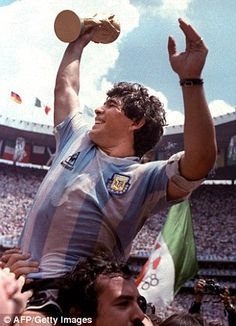 Diego Maradona has said that although Lionel Messi is a 'great lad', he does not come close to his World Cup-winning compatriot when it comes to playing the beautiful game. Best Football Players, Good Soccer Players, Football Is Life, National Football Teams, World Football, Football Soccer, Football Shirts, Mexico 86, Fifa