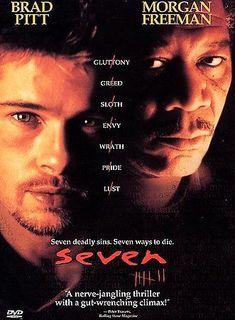 Brad Pitt, Morgan Freeman Seven DVD  Widescreen 1997 Deadly Sins 7 Ways to Die