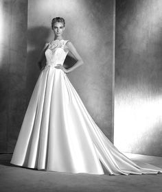 If you are a fan of simple elegance, you will love this Pronovias bridal collection to the core. Pronovias bridal collection always takes our breath away, and this Atelier collection… Pronovias Wedding Dress, 2016 Wedding Dresses, Country Wedding Dresses, Designer Wedding Dresses, Bridal Dresses, Wedding Gowns, Wedding Robe, Ball Dresses, Ball Gowns